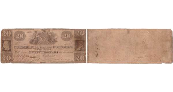 Etats-Unis - Bank Note - Obsolete currency - South Carolina (Columbia), Commercial bank -20 dollars 18xx