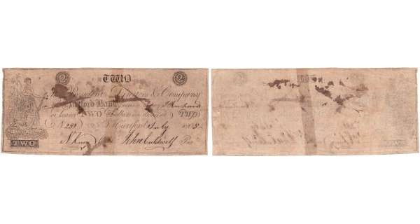 Etats-Unis - Bank Note - Obsolete currency - Connecticut (Hartford), Hartford Bank - 2 dollars July 1st 1805