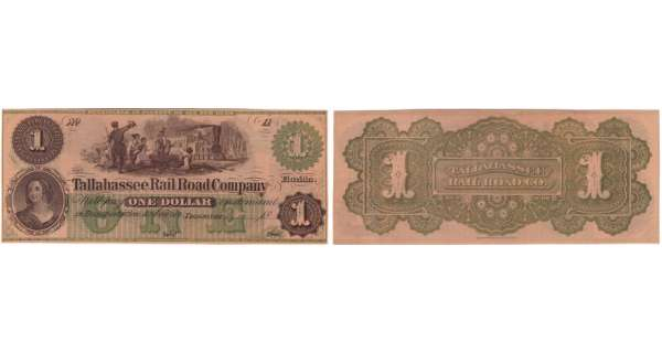Etats-Unis - Bank Note - Obsolete currency - Florida (Tallahassee), Raid road company - 1 dollar 18--