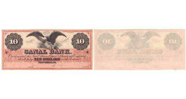 Etats-Unis - Bank Note - Obsolete currency - Louisiana (New Orleans), Canal bank -10 dollars 18--
