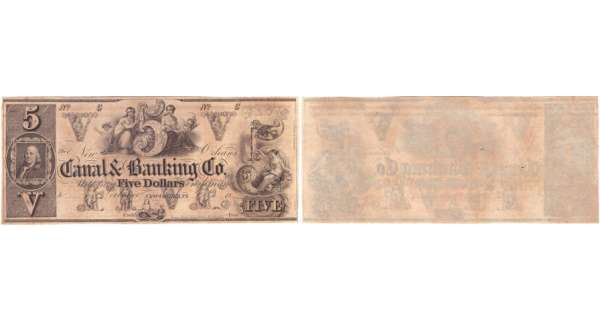 Etats-Unis - Bank Note - Obsolete currency - Louisiana (New Orleans), Canal & banking Co - 5 dollars 18--
