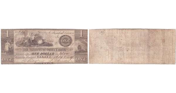 Etats-Unis - Bank Note - Obsolete currency - Maine (Calais), Washington County Bank - 1 dollar May 1st 1839