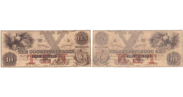 Etats-Unis - Bank Note - Obsolete currency - Massachusstes (Boston), The Cochituate Bank - 10 dollars January 1st 1851