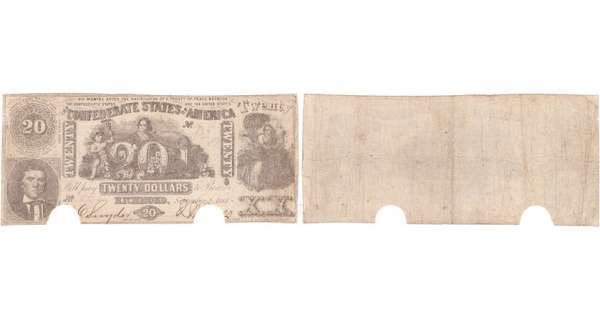 Etats-Unis - Bank Note - Confederate currency - Virgina (Richmond), Confederate States of America - 20 dollars September 2nd 1861