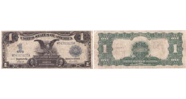 Etats-Unis - Bank Note - Silver Certificates - 1 dollar serie 1899