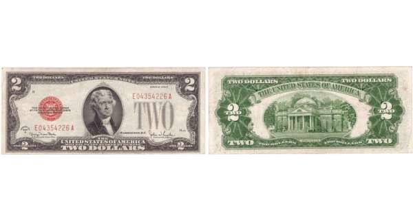 Etats-Unis - Bank Note - United States Notes - 2 dollars serie 1928 G