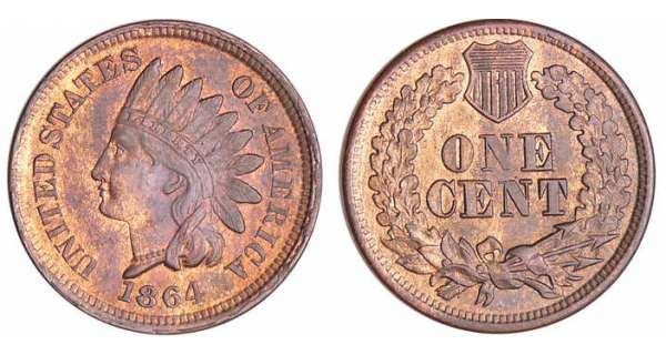 Etats-Unis - Cent, Indian head 1864
