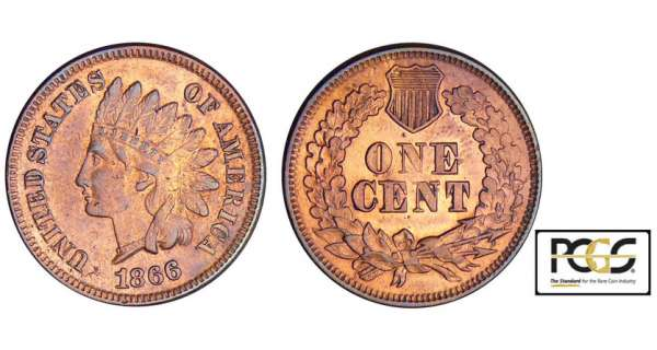Etats-Unis - Indian Head - One cent 1866