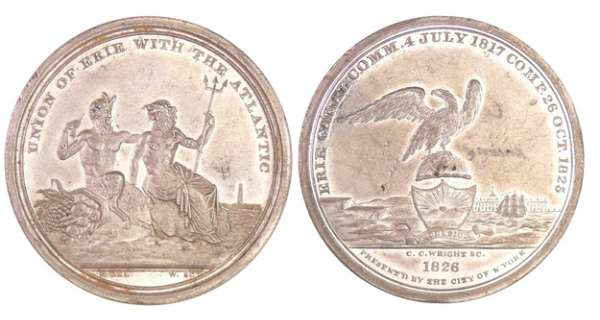 Etats-Unis - Médaille - The Completion of the Erie Canal - 1826