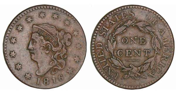 Etats-Unis - One cent Liberty head 1816
