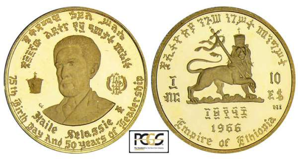 Ethiopie - 10 dollars 1966