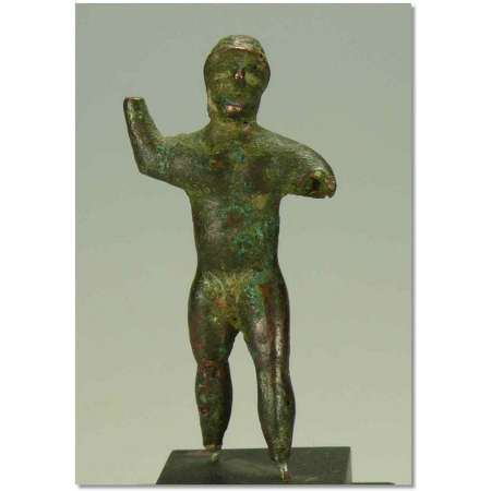 Etrusque - Statuette de guerrier barbu - IV av. J.-C.