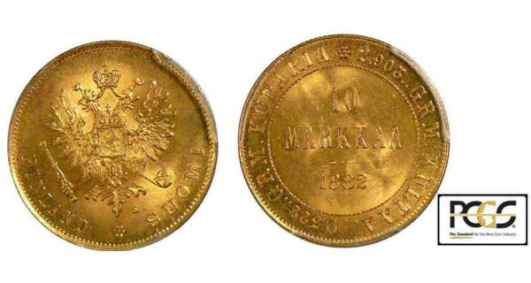 Finlande - Occupation russe - 10 markkaa 1882
