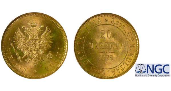 Finlande - Occupation russe - 20 markkaa 1879 S