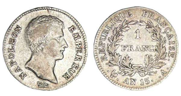 1 franc Napolon Empereur An 13 A (Paris)