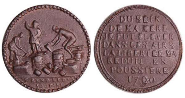 France - Révolution - Médaille destruction de la Bastille, 1790