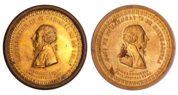 France - Révolution - Médaille uniface, Lepelletier de saint Fargeau assassiné à Paris le 20 janvier 1793