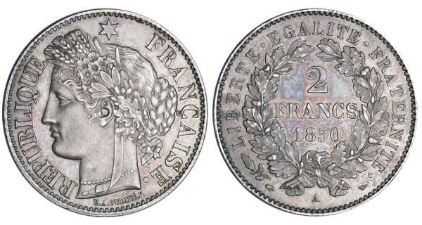 2 francs Cérès - 1850 A (Paris)