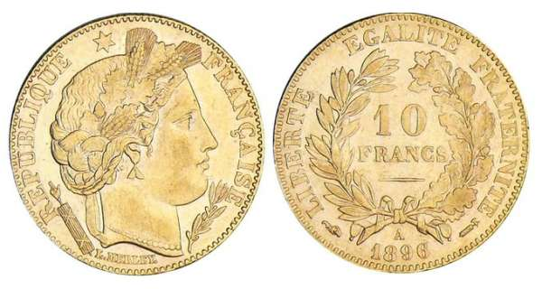 10 francs Cérès - 1896 A (Paris)