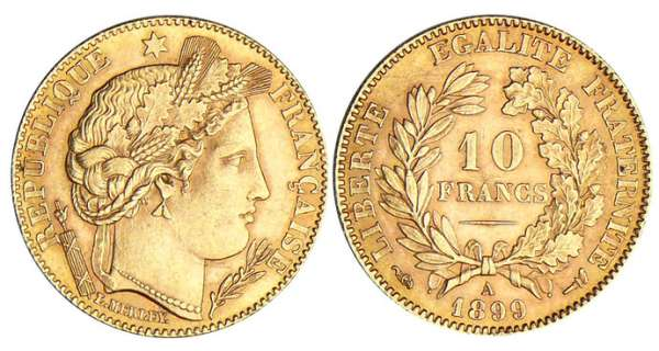 10 francs Cérès - 1899 A (Paris)