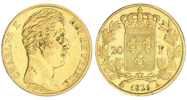 20 francs Charles X - 1825 A (Paris)