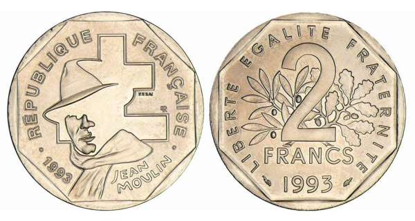 2 francs Jean Moulin - 1993 essai