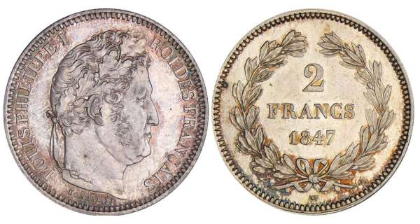 2 francs Louis-Philippe Ier - 1847 A (Paris)