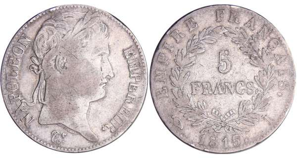 5 francs Napolon - 100 jours - 1815 I (Limoges)