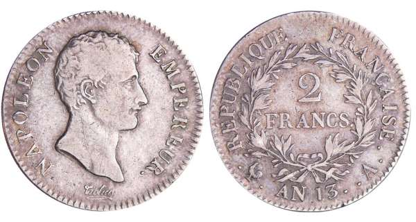 2 francs Napolon empereur - An 13 A (Paris)
