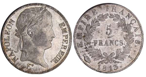 5 francs Napolon revers empire - 1813 I (Limoges)