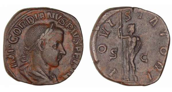 Gordian III - Sesterce (241-3, Rome) - Jupiter