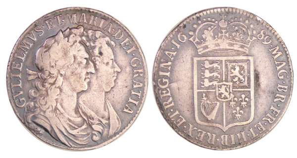 Grande-Bretagne - William et Mary (1688-1694) - Halfcrown 1691 PRIMO