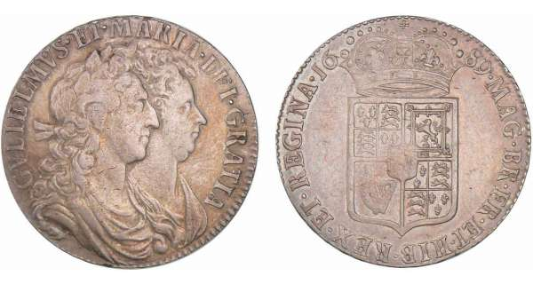 Grande-Bretagne - William et Mary - 1/2 crown 1689