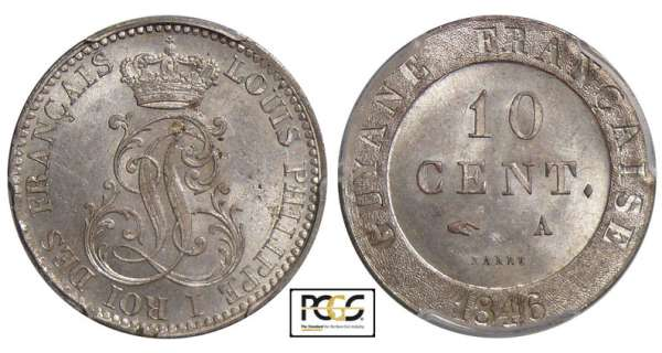 Guyane - Louis-Philippe (1830-1848) - 10 cent 1846 A