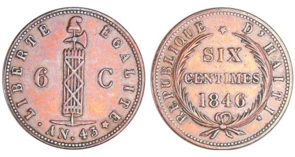 Haïti - Empire (1849-1863) - 6 centimes 1846 (An 43)