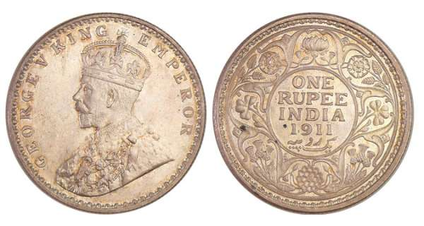 Inde Britanique - George V (1910-1936) - Rupee 1911