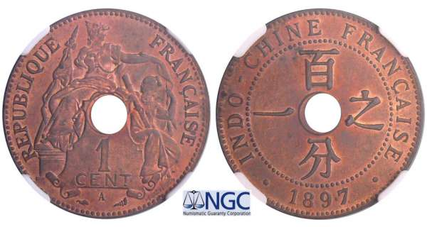 Indochine - 1 cent 1897 A