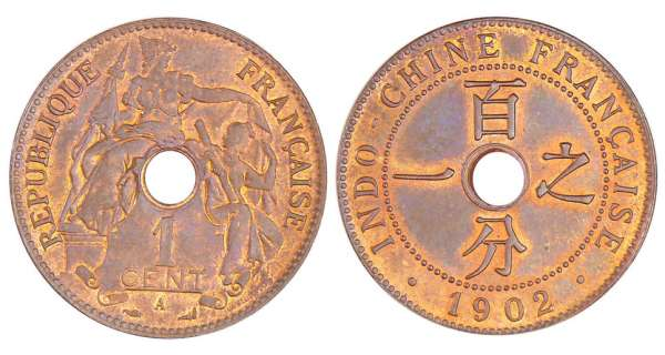Indochine - 1 cent 1902