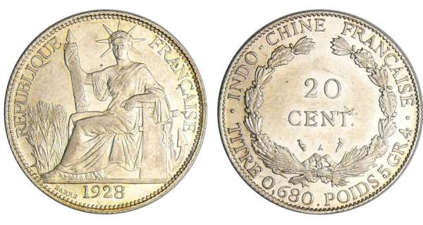 Indochine - 20 cent 1928 A