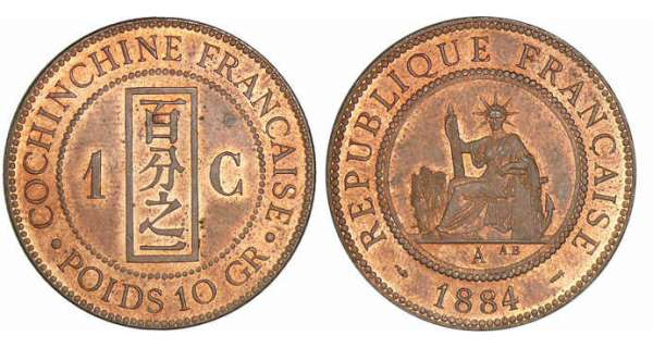 Indochine - 1 centime 1884