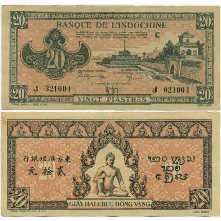 Indochine - 20 piastres