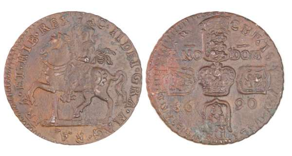 Irlande - James II (1685-1691) - Crown 1690 (Gunmoney)