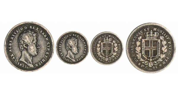 Italie - Rgne de Sardaigne - Carlo Alberto - 25 centesimi 1833 (Turin)
