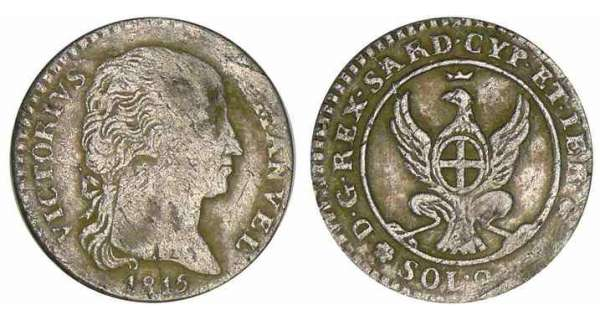 Italie - Rgne de Sardaigne - Vittorio Emanuele I - 2.6 soldo 1815 (Turin)