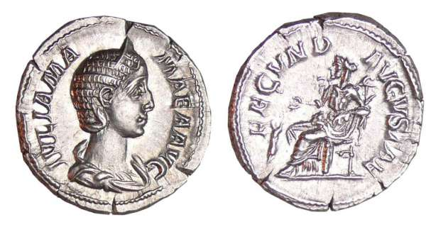 Julia Mame - Denier (232, Rome) - La Fcondit