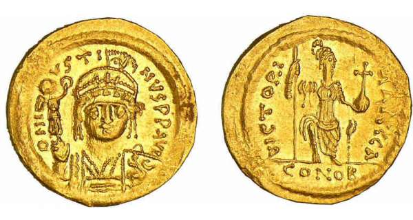 Justin II - Solidus (565-578, Constantinople)