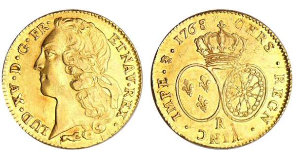 Louis XV (1715-1774) - Double louis d'or au bandeau - 1768 R (Orléans) 68 sur 68