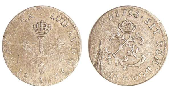 Louis XV (1715-1774) - Double sol de billon - 1758 A (Paris)