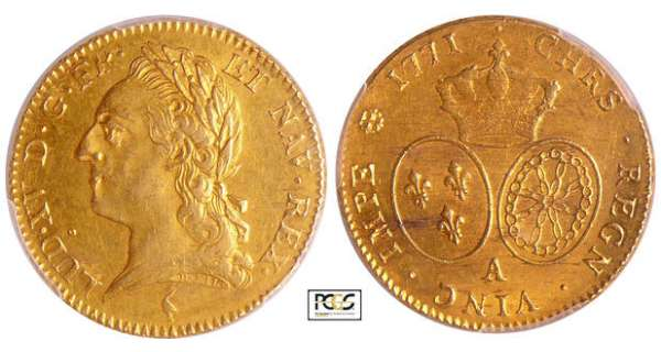 Louis XV (1715-1774) - Double louis d'or à la vieille tête - 1771 A (Paris)
