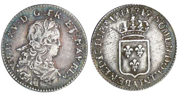 Louis XV (1715-1774) - 1/6 écu de France - 1721 A (Paris)